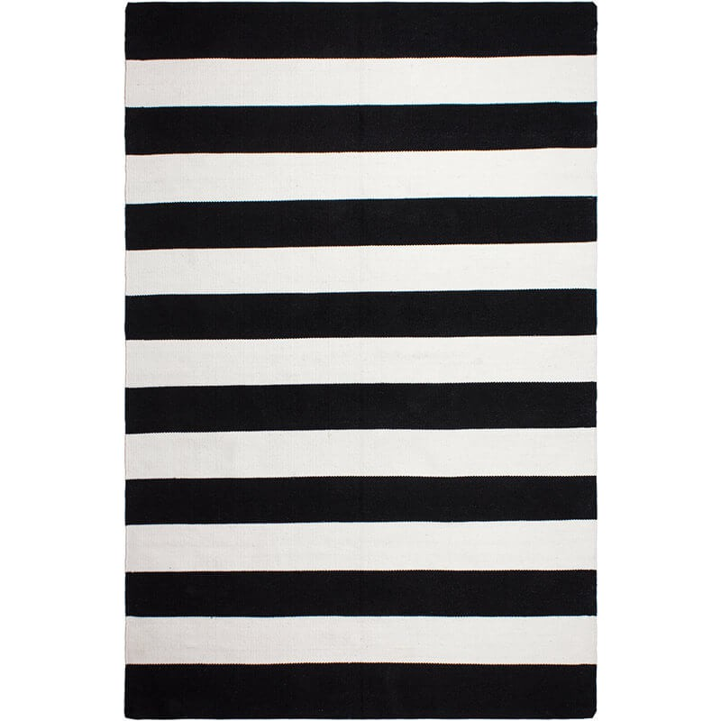 Tapis outdoor Nantucket noir