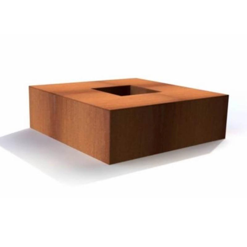 brasero table de feu carr e. Black Bedroom Furniture Sets. Home Design Ideas