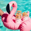 Porte-boisson gonflable Flamant Rose