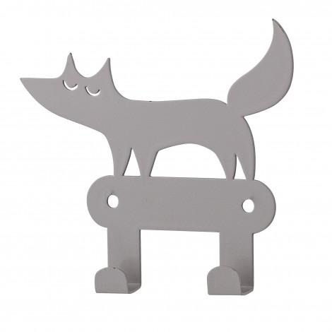 Crochet renard gris