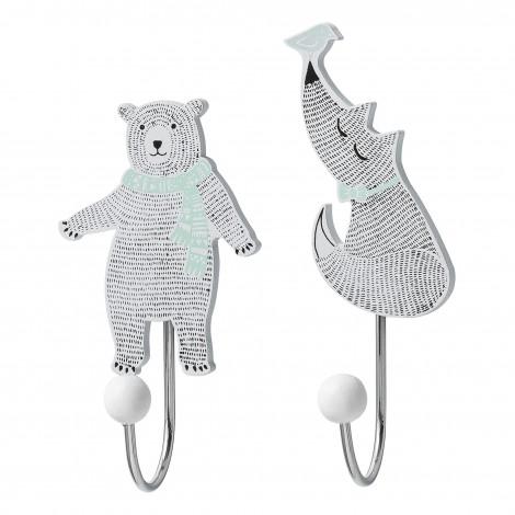 Crochets ourse et renard